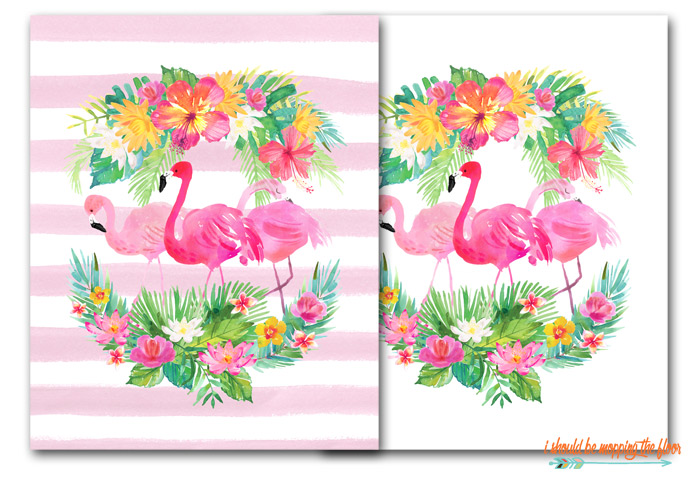Tropical Flamingo Printables