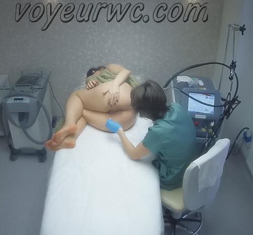 Hidden cam in the beauty shop (Intimate Waxing RU 44-47)