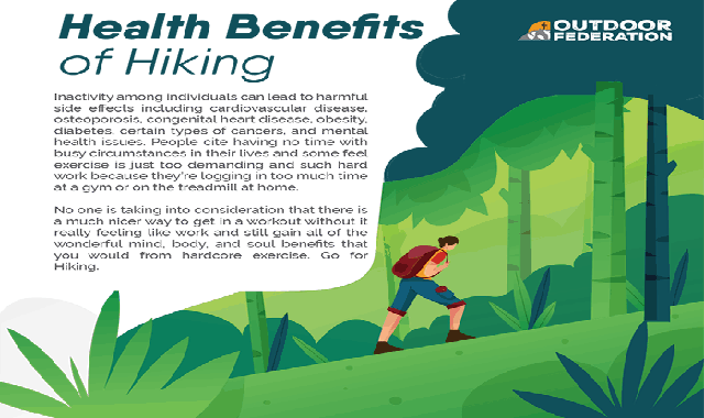 Health Benefits of Hiking #infographic