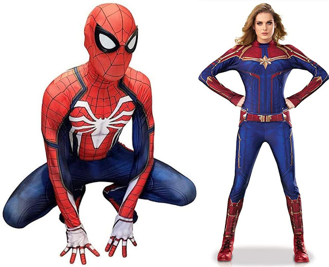 Costumi Halloween Spider-Man PS4 Capitan Marvel