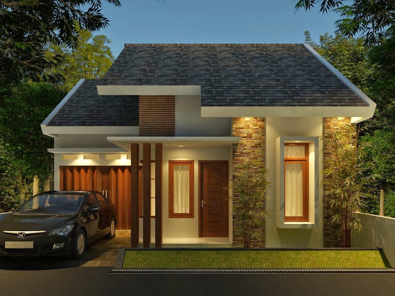 Desain Eksterior Rumah Minimalis 1 Lantai Interior Exterior Depan