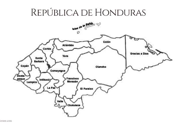 mapa República de Honduras