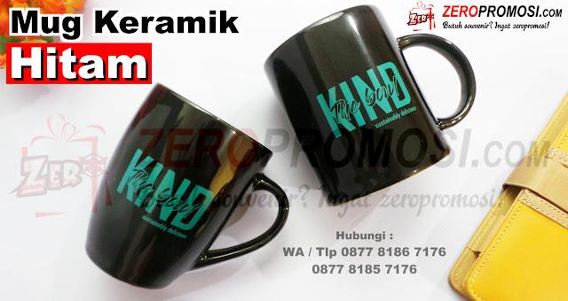 Souvenir Mug Keramik Hitam, Mug Standar Keramik full hitam Murah, Mug hitam Standar sablon, Mug keramik cetak logo, mug promosi murah, Mug keramik custom murah