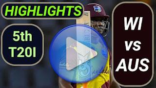 WI vs AUS 5th T20I 2021