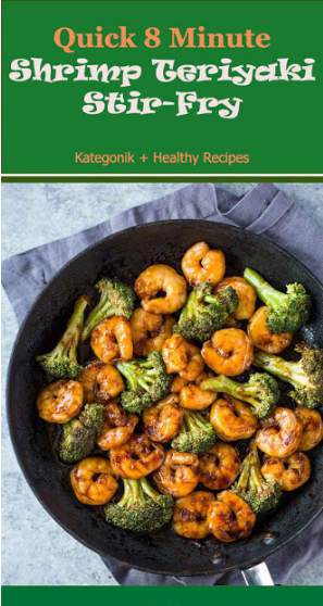 Shrimp cooked in teriyaki sauce is tender and has the perfect mixture of salty and sweet. This quick shrimp makes the perfect Asian dinner in minutes. Frozen shrimp can come in handy when you're on  #healthyrecipes #recipes #easyrecipes