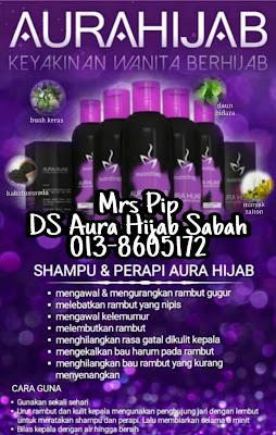 aura hijab berkesan rawat  rambut gugur