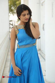 Telugu Actress Akshita (Pallavi Naidu) Latest Stills in Blue Long Dress at Inkenti Nuvve Cheppu Movie Promotions  0011.jpg
