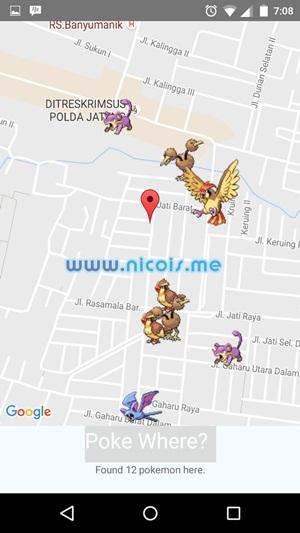 Mencari Pokemon dengan Pokéwhere