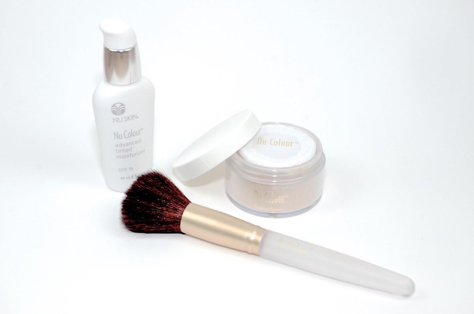 makeup and powder brush