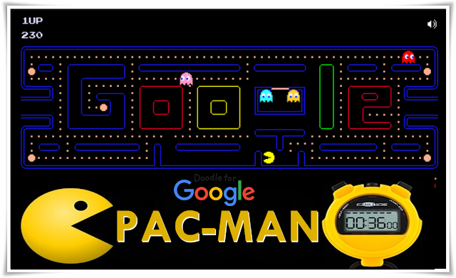 Doodle of PAC-MAN game created by Google