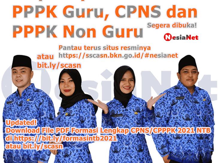 Seleksi Calon Aparatur Sipil Negara (CPNS & CPPPK Tahun 2021) Nusa Tenggara Barat NTB