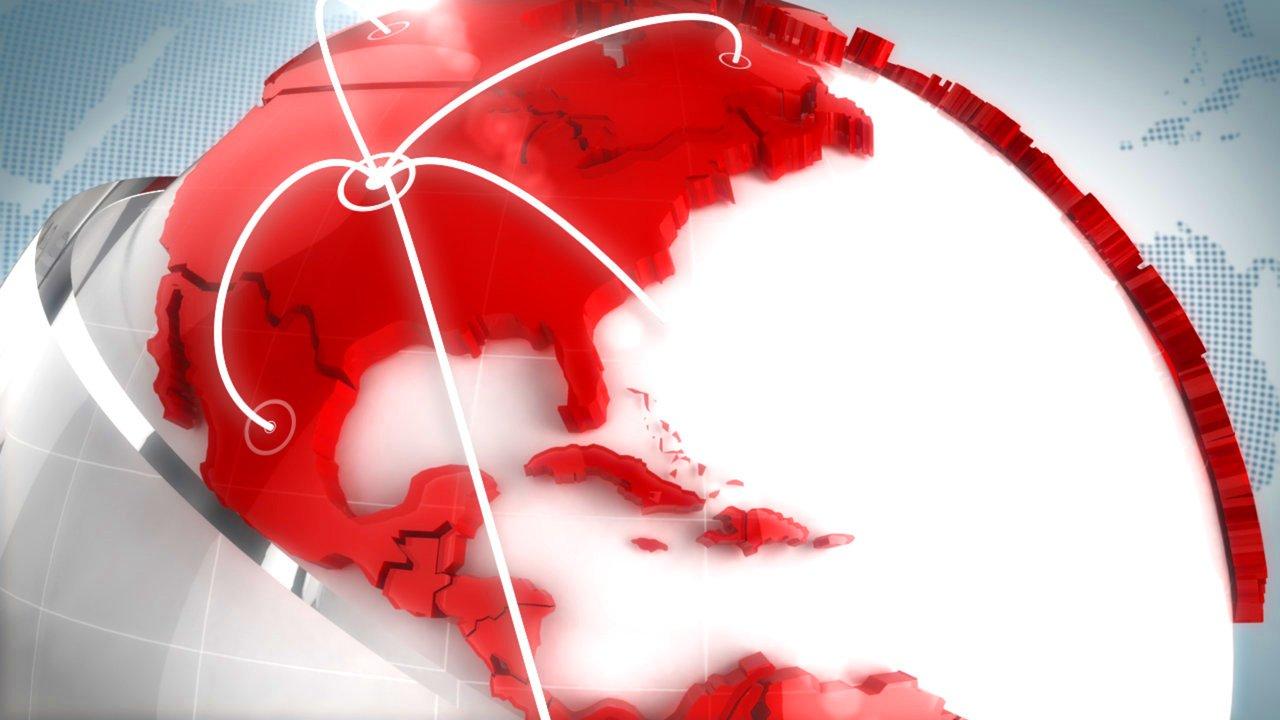 Gambar peta Dunia berwarna-warni beranimasi 3d