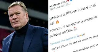 AS Monaco troll Barca on Twitter after win over PSG