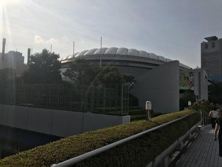 セリーヌ・ディオンの会場の東京ドームです。