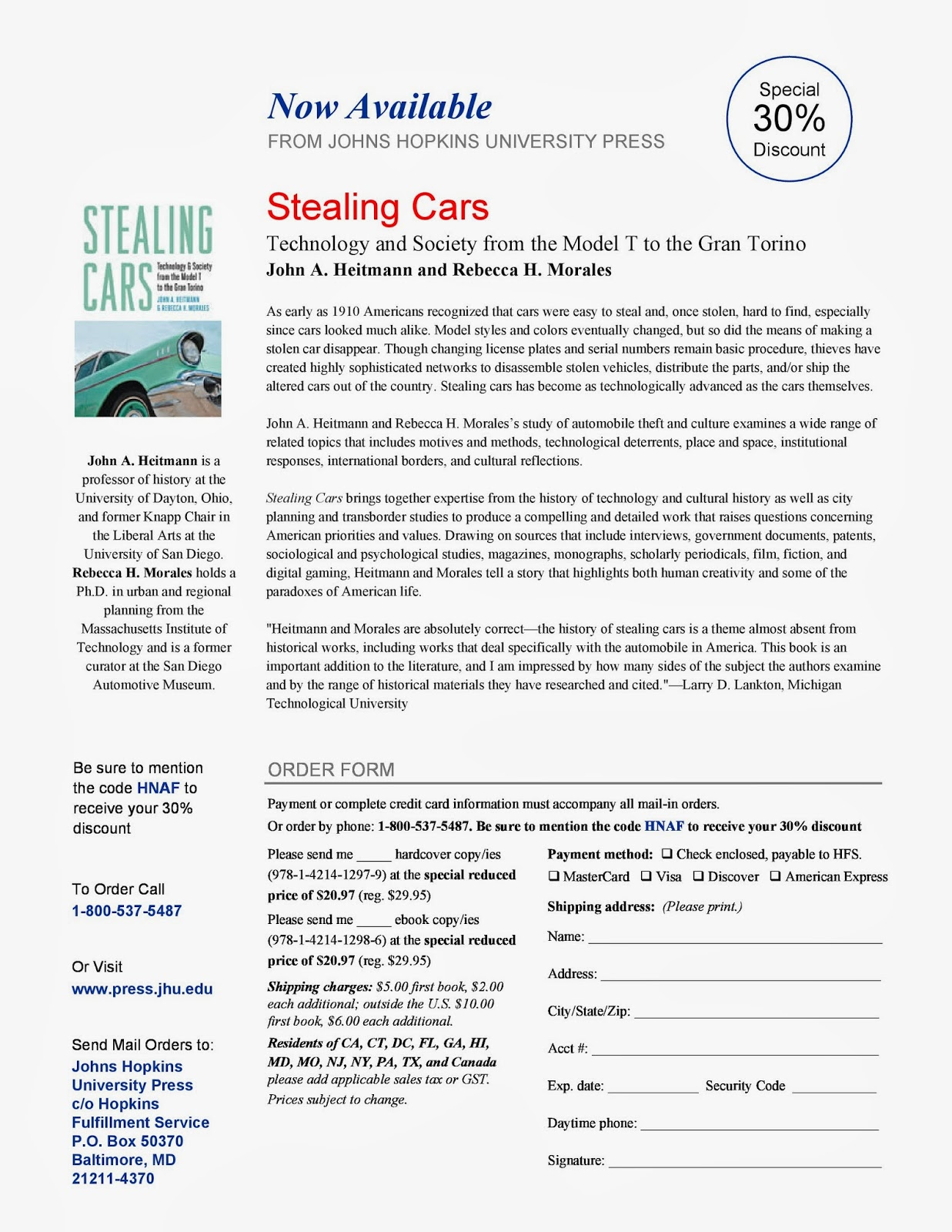 The Automobile and American Life: Stealing Cars: Technology