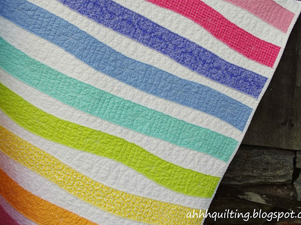 Rainbow Stripes Baby Quilt