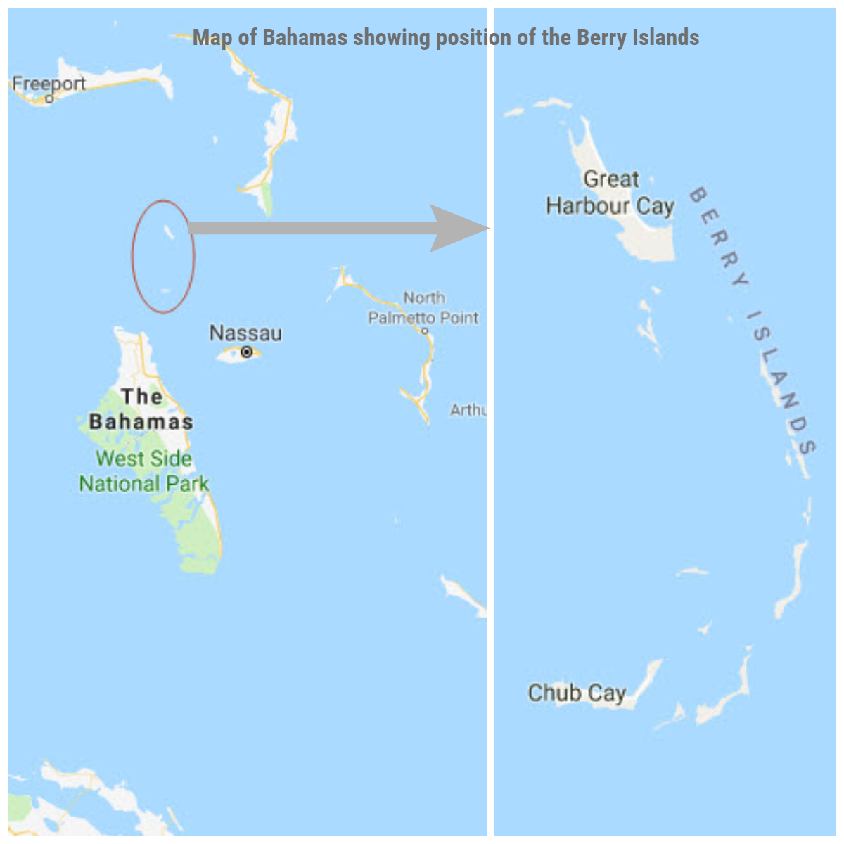 a few days ago we anchored off little harbor cay about half way between great harbor cay and chub cay we had gone exploring on our dinghy and found a