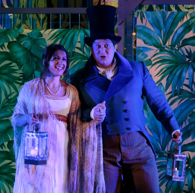 Saleri: La scuola de' gelosi - Nathalie Chalkley, Alessandro Fisher - Bampton Classical Opera (Photo Anthony Hall/Bampton Classical Opera)
