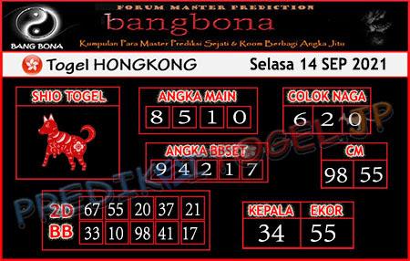 Prediksi Bangbona Togel Hongkong Selasa 14 September 2021
