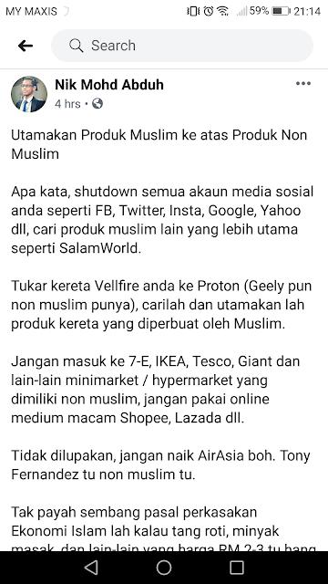 Lim Guan Eng minta tolong Umno dan Pas hentikan Kempen Beli Produk Muslim