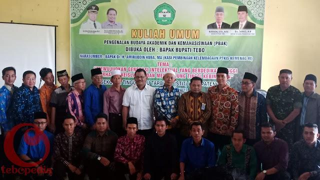 Ratusan Maru Ikuti Kuliah Umum STIT Tebo Bersama Dr H Amiruddin Kuba Ma