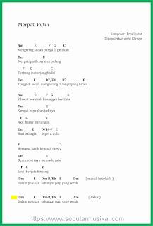 chord merpati putih chrisye