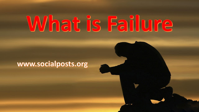Meaning of Failure in Life in Hindi
