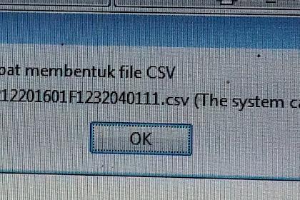 Solusi Error ETAX-50004 : Tidak Dapat Membentuk File CSV