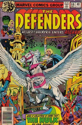 Defenders #66, the Valkyrie goes to Asgard