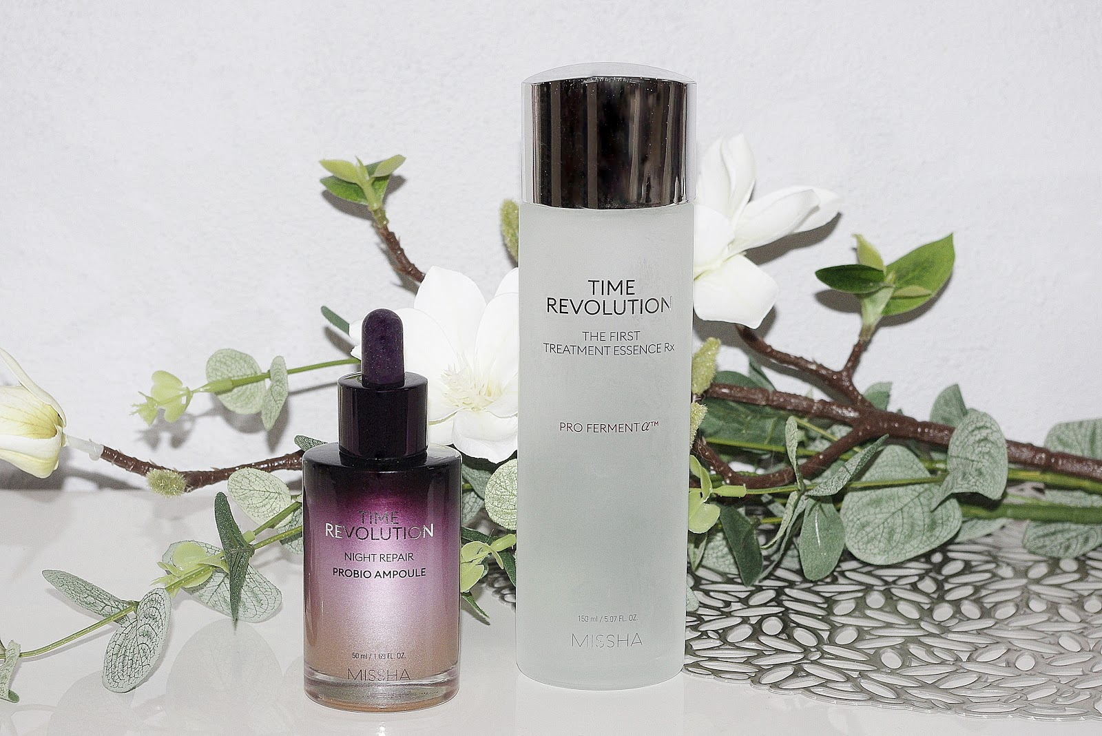 Missha Time Revolution The First Treatment Essence Rx Time Revolution Night Repair Probio Ampoule