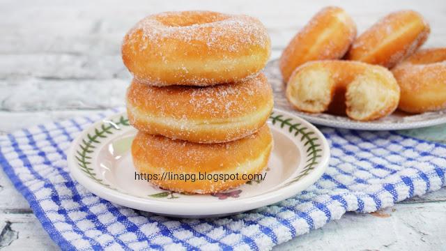 resepi donut gebu, cara buat donut simple, donut uli guna tangan, resepi donut tanpa uli, resepi donut mudah dan sedap, donut lina pg,