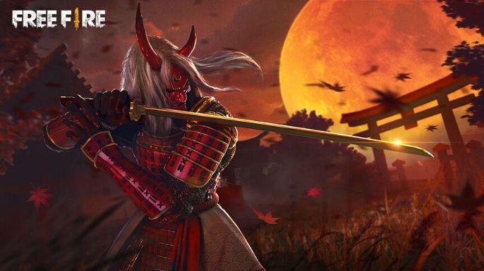 Wallpaper de Passe de Fogo de Samurais Demoníacos