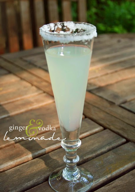 Ginger and Vodka Lemonade makes a great treat this afternoon