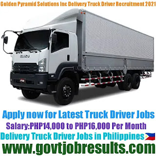 Golden Pyramid Management Solutions Inc Delivery Truck Driver Recruitment 2021-22
