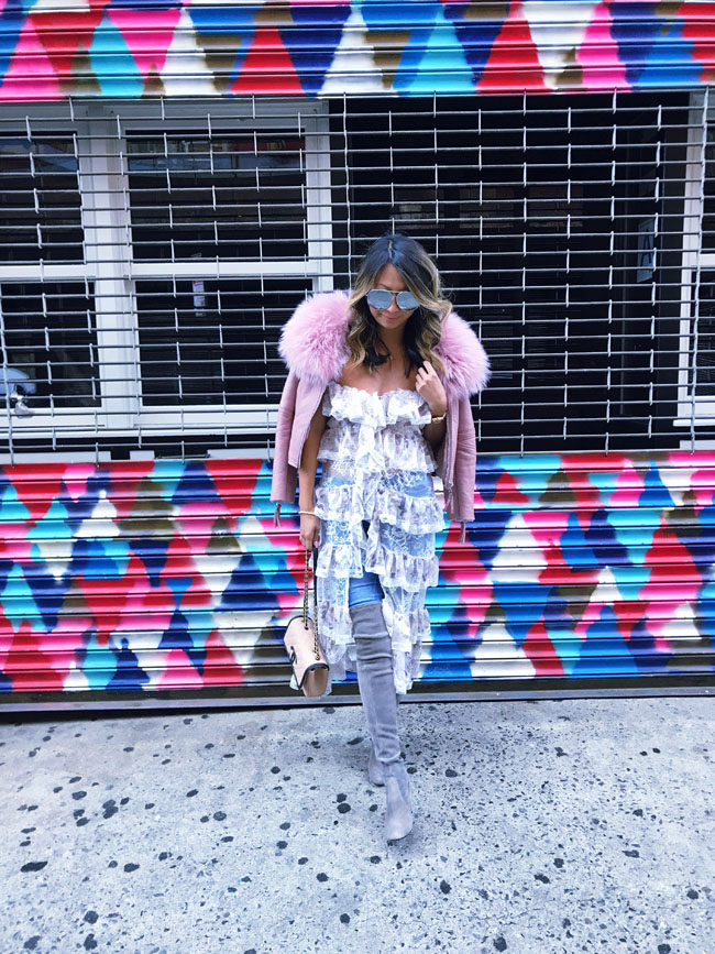 Lace Duster for Fall, How to Style a Duster, How to Style Over the Knee Boots, NYFW Style
