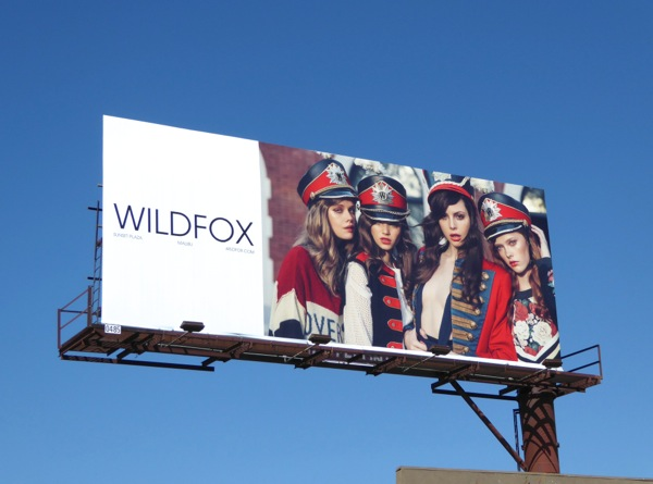 Wildfox band uniform Fall 2016 fashion billboard