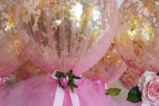 Rose Gold Balloon Confetti Party Decoraion