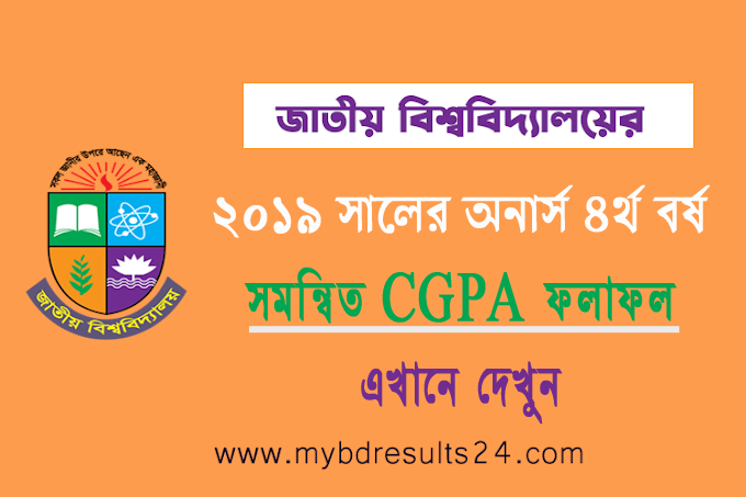 NU Honors 4th Year Combined CGPA Result 2021 Year 2019
