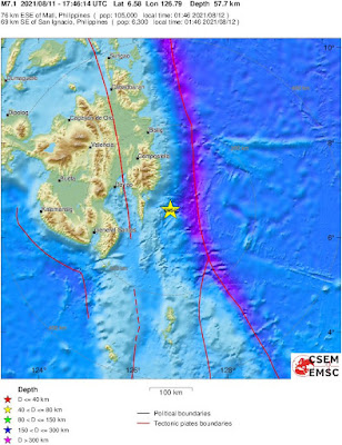 Magnitude 6.9 earthquake strikes Mindanao, Philippines
