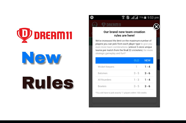 Dream11  New Rules in hindi,How To Play Dream11
