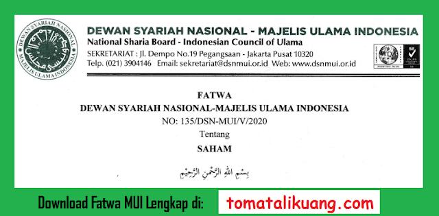 fatwa dewan syariah nasional dsn mui tentang investasi saham pdf majelis ulama indonesia tomatalikuang.com.jpg