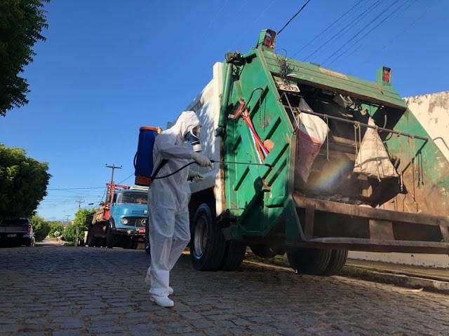 Prefeitura de Cedro inicia desinfecção na frota de transportes das Secretarias de Meio Ambiente e Recursos Hídricos
