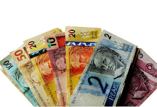 imagem do Real: moeda brasileira, cédulas de dinheiro