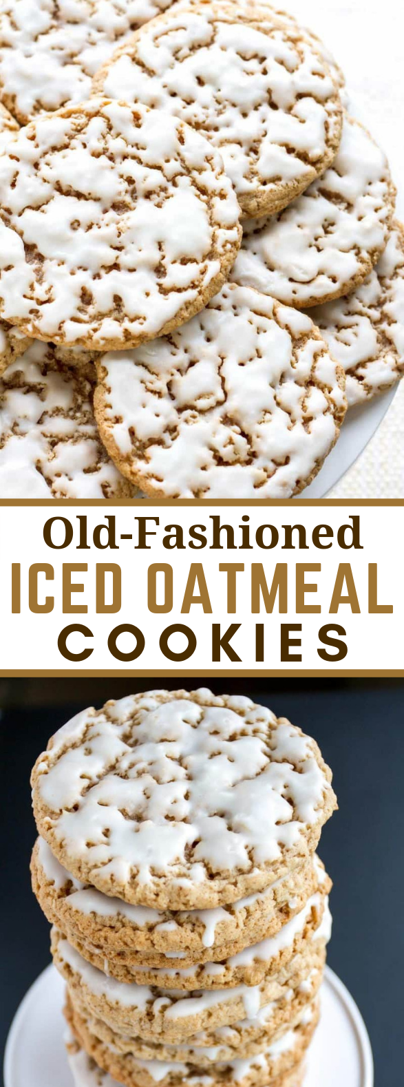 Old-Fashioned Iced Oatmeal Cookies #desserts #vegetarian