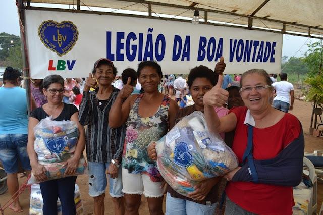 Famílias quilombolas e rurais de Taquarana/AL e Batalha/AL  recebem ação da LBV