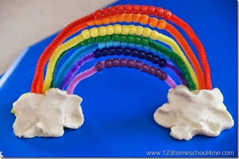 rainbow craft - spring activities for kids