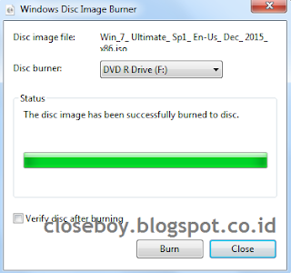 windows disc image burner finish