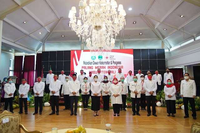 Lantik Ketua PMI Pali, Feby Deru Minta PMI Aktif Sosialisasikan Protokol Kesehatan