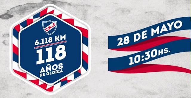 6.118 mts por los 118 años del Club Nacional de Fútbol (Montevideo, 28/may/2017)
