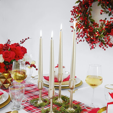 A Modern Plaid Tartan Christmas Table